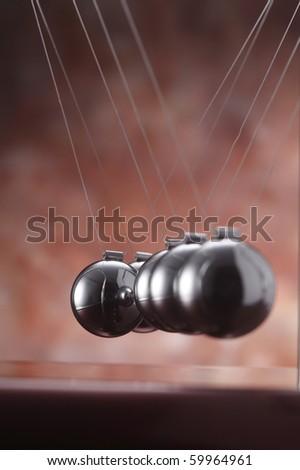 stock image of simple pendulum unaglined-network failure - stock photo