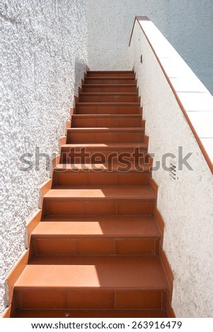 Stone staircase at the entrance to the building. - stock photo
