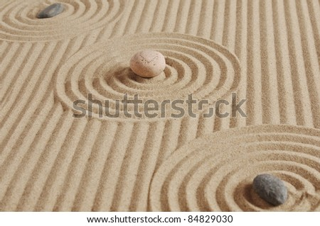 stones on a sand background