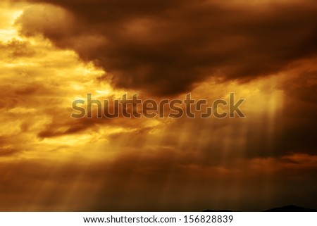 stormy  clouds  with sunrays