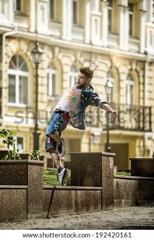 Street dancer - stock photo