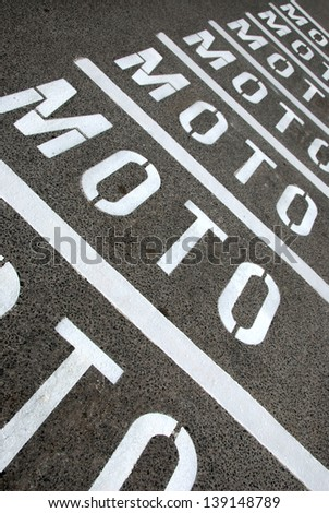 Street ground sign 	 - stock photo