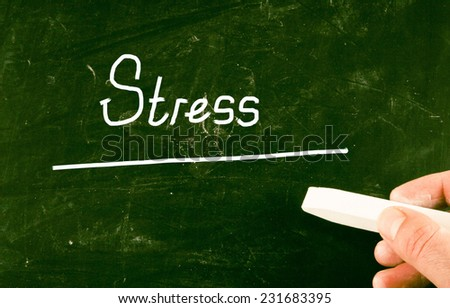 stress concept - stock photo