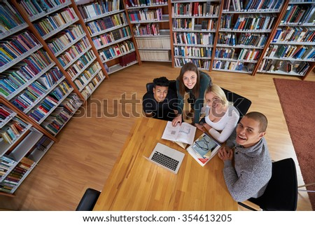 students learning                - stock photo
