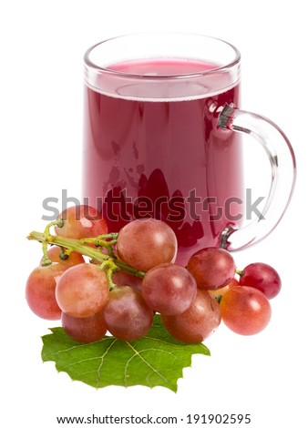 """""""Sturm"""": Wine decorated with grapes - stock photo"""