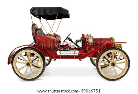 1910 style antique car - stock photo