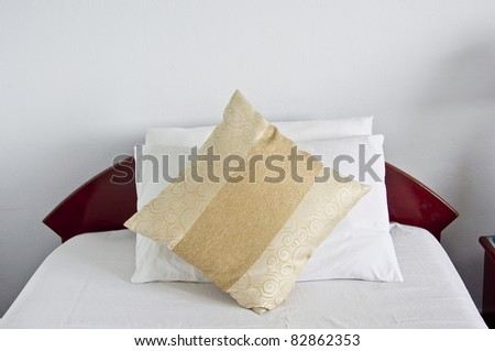 Style of interior design in bedroom - stock photo