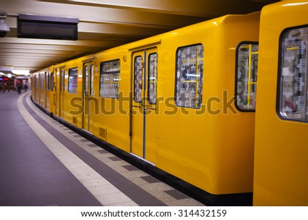 Subway station in Berlin, Germany. - stock photo