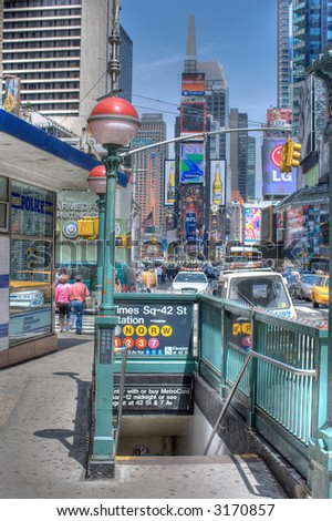 Subway Times Square - Manhattan,New York City, United states of America - stock photo