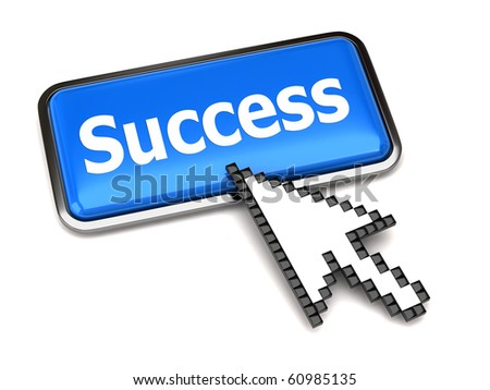Success button and arrow cursor