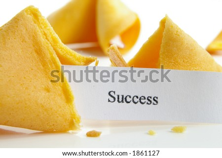 """Success"" fortune cookie"