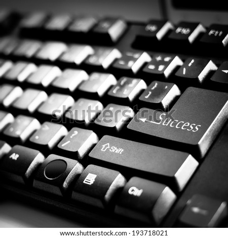 """Success"" on Computer Keyboard"