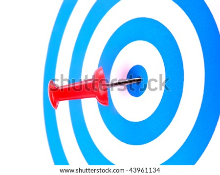 Success target - stock photo