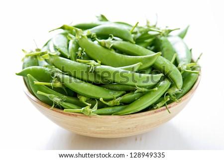 Sugar snap pea - stock photo