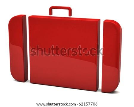 Suitcase icon - stock photo