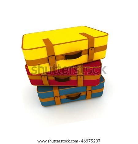Suitcases - stock photo
