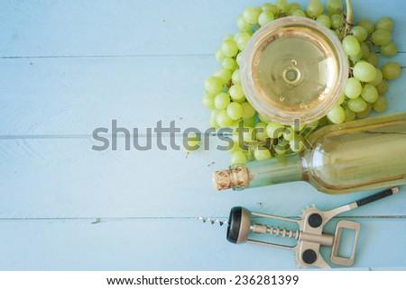 summer wine background  - stock photo
