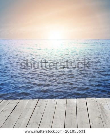 Sunrise. - stock photo