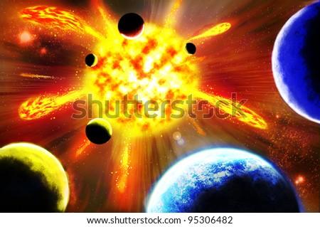 Supernova - stock photo