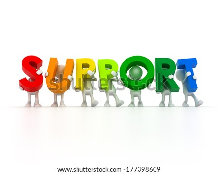 Support team - stock photo