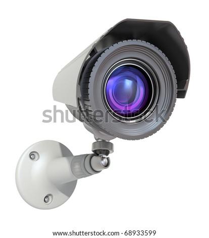surveillance camera - stock photo