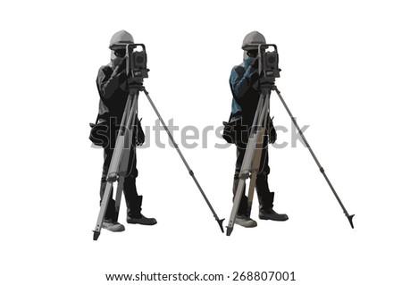 2 surveyor - stock photo