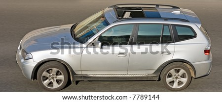 SUV CAR  of my numerous cars series - stock photo