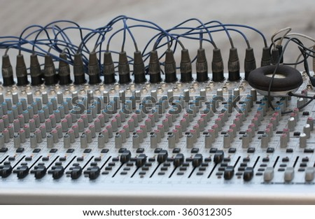 switch mixer sound controllers buttons, sound controller, mixer board