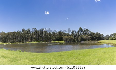 Sydney, Australia The beautiful lake in Macquarie Park