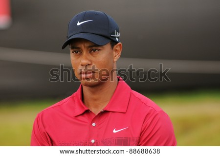 SYDNEY - NOV 13: - Tiger Woods third place at 11 under at the Emirates Australian Open at The Lakes golf course. Sydney - November 13, 2011 - stock photo