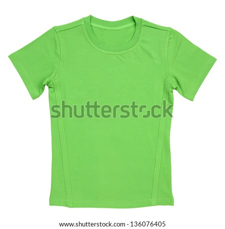 t-shirt isolated on white background
