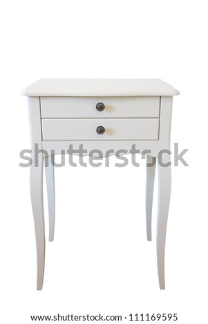 table isolated over white, with clipping path - stock photo