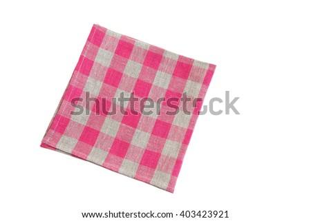 table napkin on white background isolated - stock photo