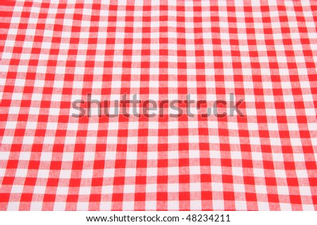 Tablecloth background close up - stock photo