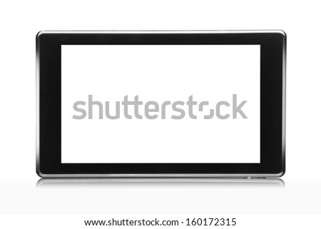 tablet pc isolated on white - stock photo