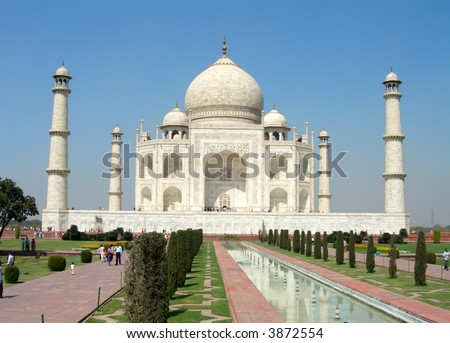Taj Mahal in Agra in India