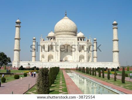 Taj Mahal in Agra in India - stock photo