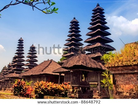 Taman Ayun Temple in Mengwi (Bali, Indonesia) on a beautiful sunny day(dated from 1634). - stock photo