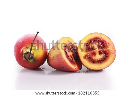 Tamarillo fruits isolated
