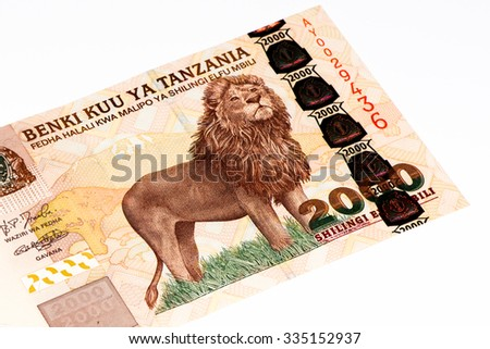 2000 Tanzanian Shillings Bank Note Tanzanian Stock Photo Royalty