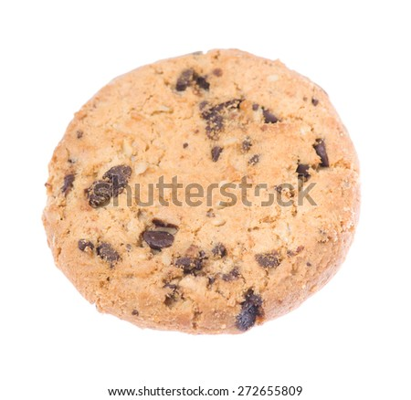 tasty cookies isolated on a white background
