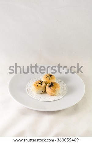 Tau Sar Pneah, Phuket traditional snack, applies from original chinese traditional snack - stock photo