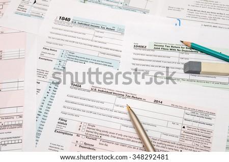 1040 tax form - stock photo