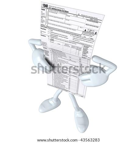 1040 Tax Man - stock photo
