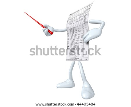 1040 Tax Man - stock photo
