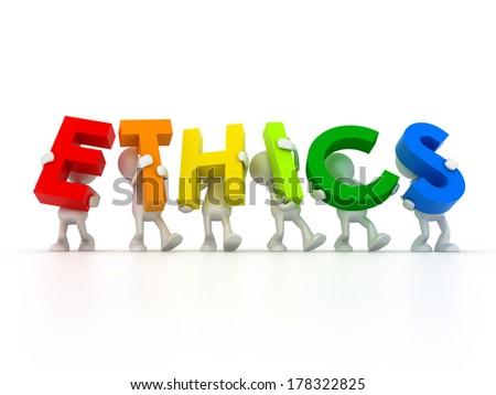 Team Ethics - stock photo