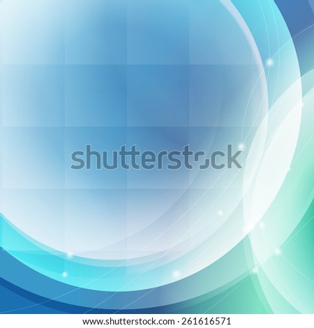 techno square abstract blue background  - stock photo