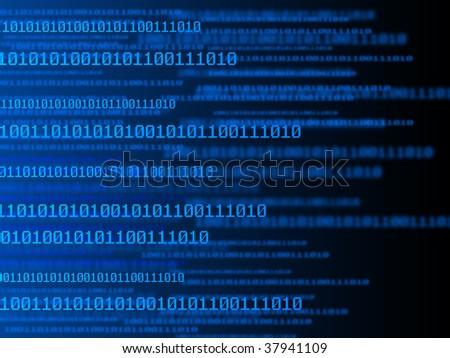 Technology binary background - stock photo