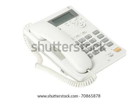 telephone on a white  background - stock photo