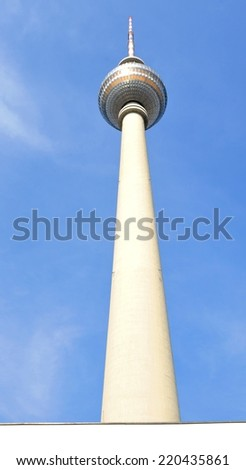 Television Tower (Fernsehturm) in Berlin, Germany - stock photo